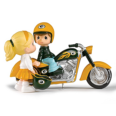 Precious Moments Green Bay Packers Motorcycle Figurine: The Hamilton Collection