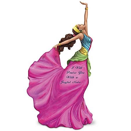 I Will Praise You With A Joyful Noise Woman Figurine