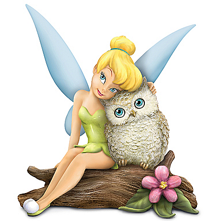 Disney Tinkerbell Figurine: Disney Tinker Bell Owl Always Love You Figurine