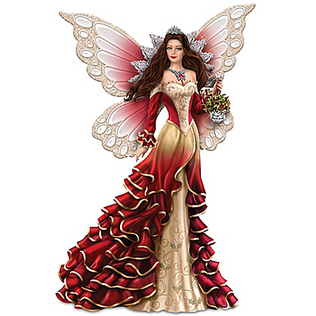 The Spirit Of Love Hand-Painted Figurine Premiere Issue In The Nene Thomas' Spirits Of Christmas Collection