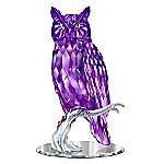 Figurine - Wisdom Of The Amethyst Owl Figurine
