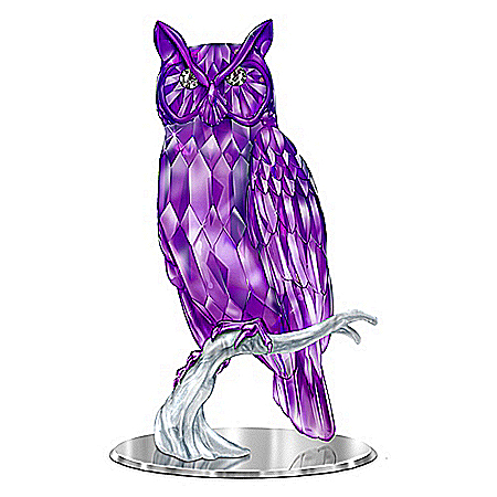 Figurine: Wisdom Of The Amethyst Owl Figurine