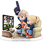 Figurine - Precious Moments Every Day Is A Touchdown With You Broncos Figurine