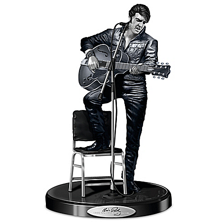 Sculpture: Elvis Presley '68 Comeback Platinum Edition Sculpture