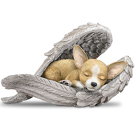 The Bradford Exchange Online - Figurine: Chihuahuas Leave Paw Prints On Our Hearts Figurine Photo
