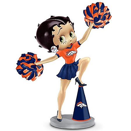 Handbell: Three Boop-Oop-A-Doops For The Denver Broncos Betty Boop Handbell