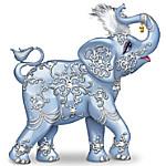 Thomas Kinkade Dazzling Delight - Elephant Figurine With Swarovski Crystal