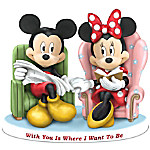 Disney With You Is Where I Want To Be - Mickey Mouse And Minnie Mouse Figurine