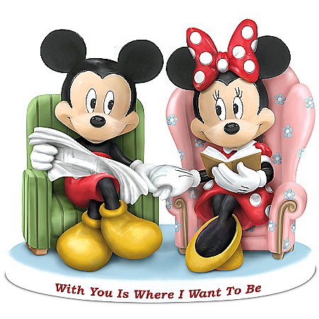 Disney With You Is Where I Want To Be: Mickey Mouse And Minnie Mouse Collectible Figurine