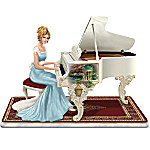 Thomas Kinkade A Musical Interlude Victorian Lady Figurine That Plays Beethoven's Fur Elise