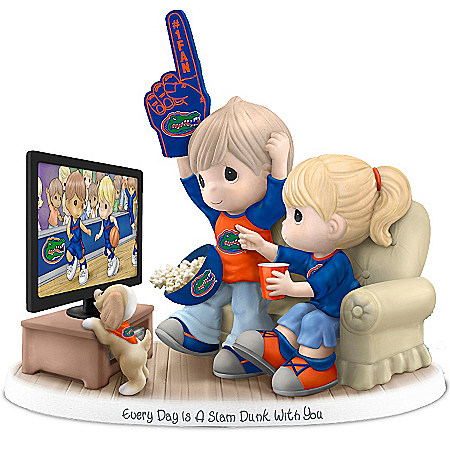 Precious Moments Collectibles Figurine: Precious Moments Every Day Is A Slam Dunk With You Florida Gators Figurine