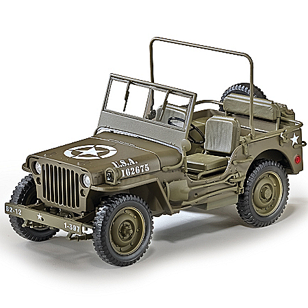 1:18-Scale World War II 1/4-Ton U.S. Willys Jeep Diecast Car