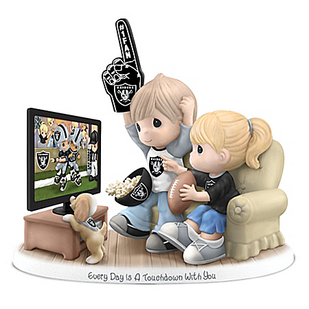 NFL-Licensed Oakland Raiders Fan Precious Moments Porcelain Figurine