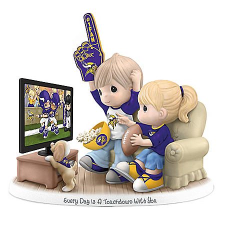 Precious Moments Every Day Is A Touchdown With You Vikings Figurine