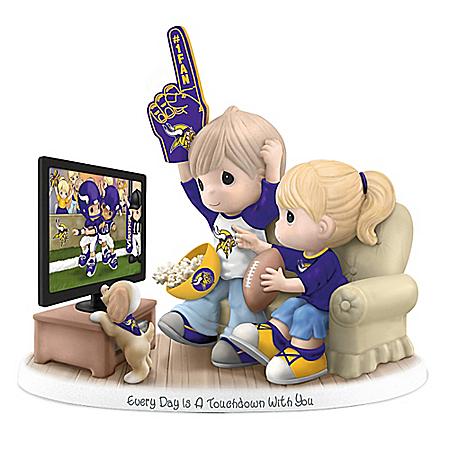 NFL-Licensed Minnesota Vikings Fan Precious Moments Porcelain Figurine