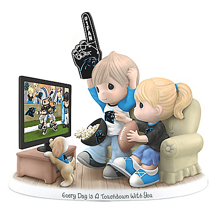 Figurine: Precious Moments Every Day Is A Touchdown With You Panthers Figurine