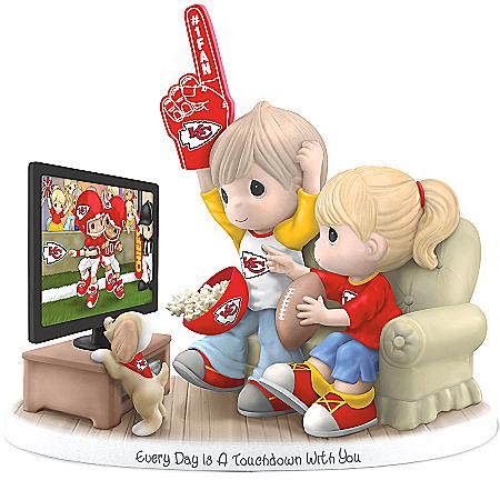 NFL-Licensed Kansas City Chiefs Fan Precious Moments Porcelain Figurine