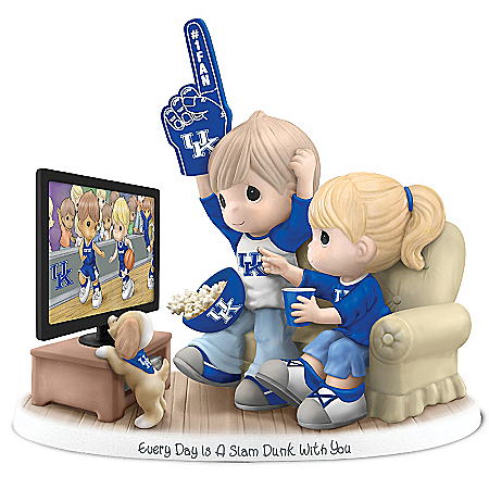 Precious Moments Collectibles Figurine: Precious Moments Every Day Is A Slam Dunk With You Kentucky Wildcats Figurine