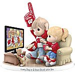 Figurine - Precious Moments Every Day Is A Slam Dunk With You Wisconsin Badgers Figurine