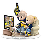 Precious Moments Every Day Is A Slam Dunk With You University Of Michigan Wolverines Figurine
