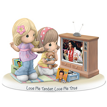 Precious Moments And Elvis Presley Love Me Tender, Love Me True Figurine