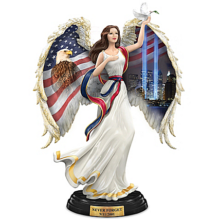 America's Sacred Guardian Angel Figurine Commemorates September 11, 2001