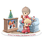 Precious Moments Family Is The Tradition That Brightens The Heart Figurine With Rudolph