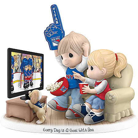 Precious Moments Collectibles Figurine: Precious Moments Every Day Is A Goal With You New York Rangers® Figurine