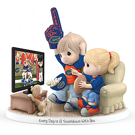 Precious Moments Every Day Is A Touchdown With You Florida Gators Figurine