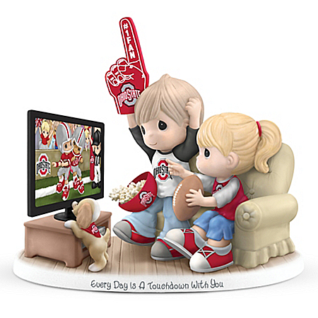 Precious Moments Every Day Is A Touchdown With You Ohio State Buckeyes Figurine – National Champions