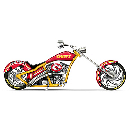 NFL Kansas City Chiefs Custom Cruiser Bike Figurine