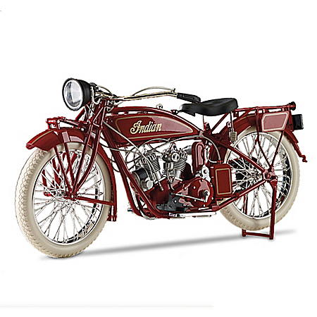 Hand-Painted Indian Motorcycle 1:6-Scale 1920 Diecast Motorcycle