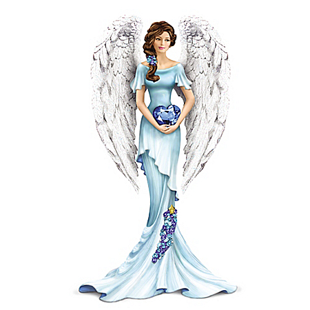 Thomas Kinkade Heavenly Whisper Of Hope Angel Figurine Supports Ovarian Health