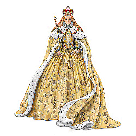 The Coronation Of Queen Elizabeth I Of England Handcrafted Figurine