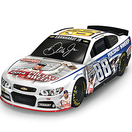 2014 Dale Jr. Pocono Sweep 1:18-Scale Collage Chevy SS No. 88 Car Sculpture