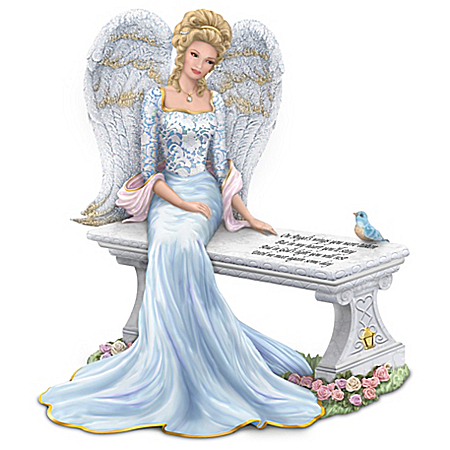Thomas Kinkade Heaven's Embrace Bereavement Angel Figurine