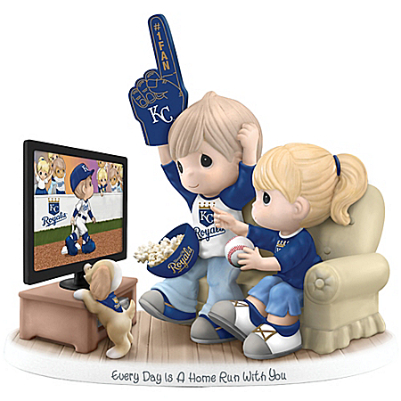 MLB-Licensed Kansas City Royals Fan Precious Moments Porcelain Figurine