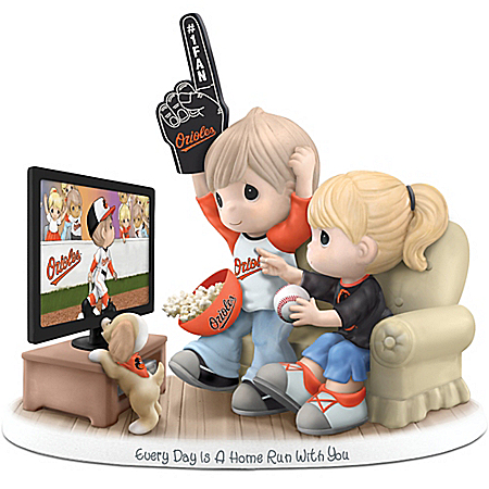 MLB-Licensed Baltimore Orioles Fan Precious Moments Porcelain Figurine
