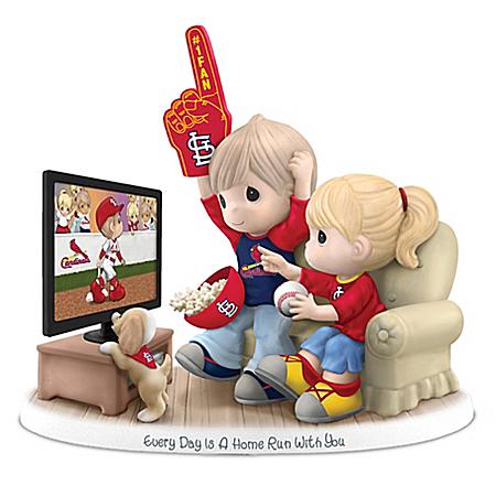 MLB-Licensed St. Louis Cardinals Fan Precious Moments Porcelain Figurine