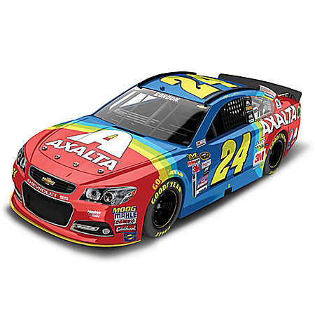 Jeff Gordon No. 24 Axalta Coating Systems Rainbow 2015 NASCAR Sprint Cup Series Diecast Car