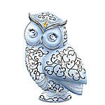 Thomas Kinkade Dazzling Wisdom Owl Figurine With Swarovski Crystals