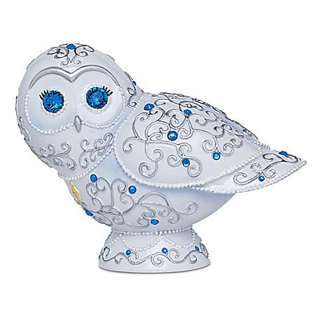 Thomas Kinkade Sparkling Splendor Swarovski Crystal Owl Figurine