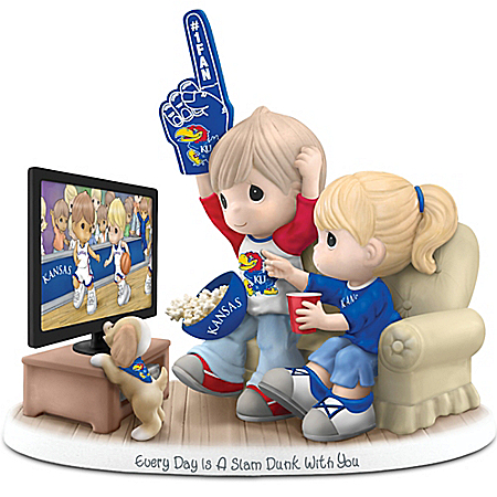 Precious Moments Every Day Is A Slam Dunk With You Kansas Jayhawks Figurine