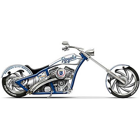 MLB-Licensed Kansas City Royals Take The Crown Cruiser Motorcycle Figurine