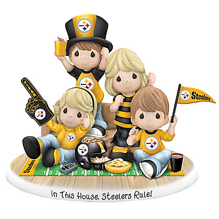 Precious Moments In This House, Pittsburgh Steelers Rule Figurine