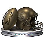Pittsburgh Steelers Pride Football And Helmet Sculpture