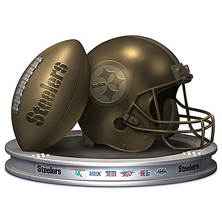 Pittsburgh Steelers Pride Football And Helmet Sculpture