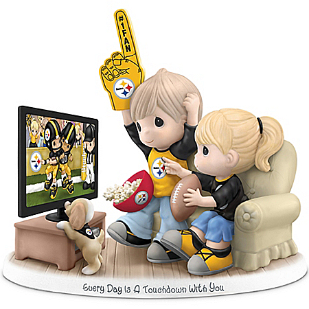 Precious Moments Every Day Is A Touchdown With You Personalized NFL Team Figurine