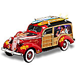 Elvis Presley Aloha From Hawaii Woody Wagon Sculpture In 1 - 18 Scale