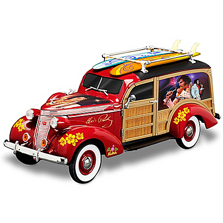 Elvis Presley Aloha From Hawaii Woody Wagon Sculpture In 1:18 Scale